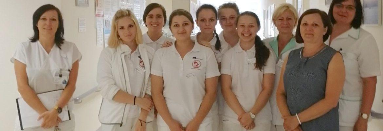 Slovenské studentky ve Vítkovické nemocnici