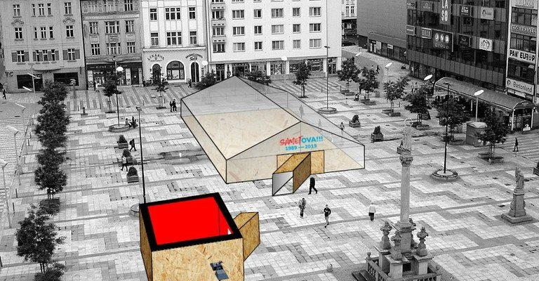 Vizualizace projektu sametOVA na Masarykově náměstí - Návrh - David Bazika